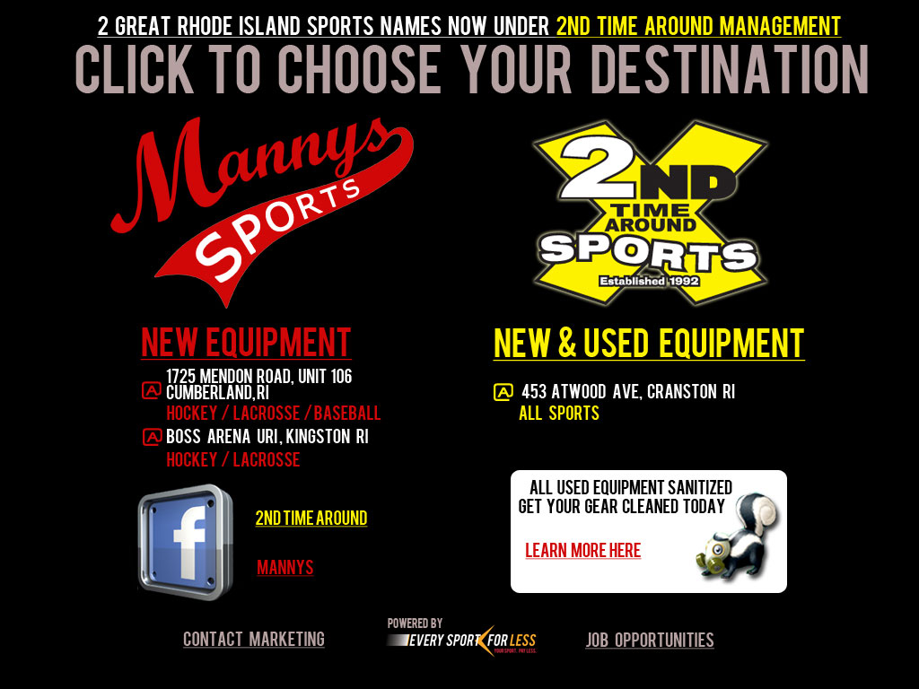 Website Info Portal 2nd Time Around Sports and Mannys Sports RI